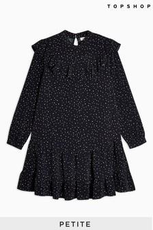 Topshop Petite Ruffle Yoke Mini Dress