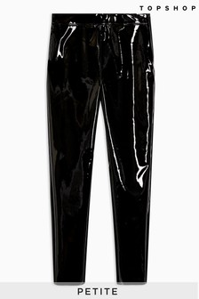 Topshop Petite Skinny Vinyl Trousers