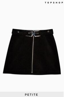 Topshop Petite Corduroy Double Buckle Skirt