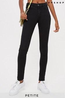 "Topshop Petite Black Leigh Jeans 28"" Leg"