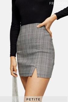 Topshop Petite Bengaline Check Mini Skirt