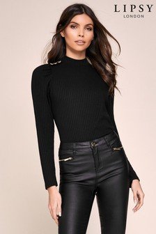 Lipsy Button Roll Neck