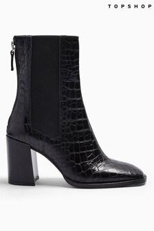 Topshop Huntinton Crocodile Boots