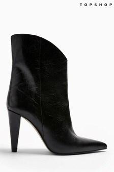 Topshop Havana Leather Boots