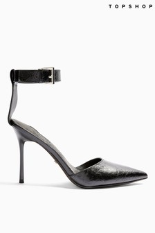 Topshop Glide Ankle Strap Shoes