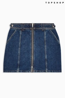 Topshop Considered Recycled Cotton Denim Skirt