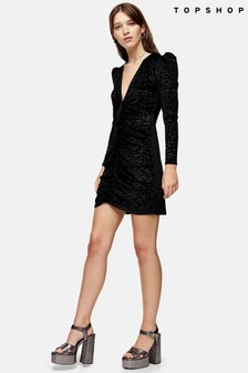 Topshop Jacquard Velvet Mini Dress