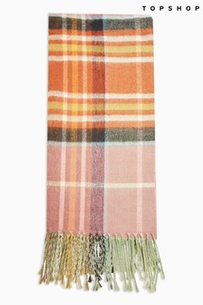 Topshop Lightweight Check Scarf