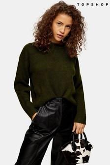 Topshop Knitted Super Soft Crop Jumper