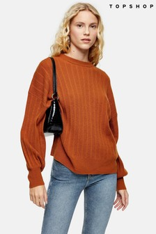 Topshop Knitted Jumper With Cashmere