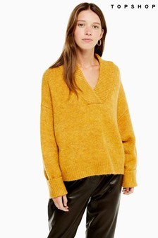 Topshop Super Soft V neck Jumper