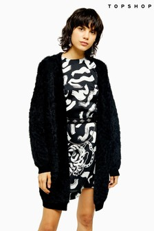 Topshop Knitted Eyelash Cardigan