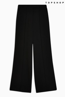 Topshop Pintuck Wide Leg Trousers
