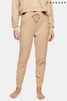 Topshop Brushed Ribbed Loungewear Joggers