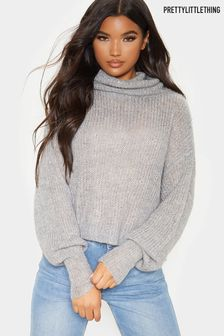 PrettyLittleThing Sparkle Roll Neck Jumper