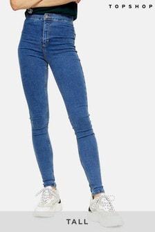 Topshop Tall Mid Blue Joni Jeans