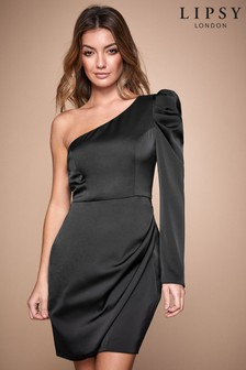 Lipsy One Shoulder Puff Sleeve Dress