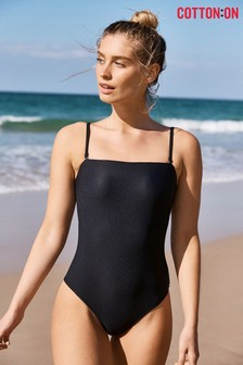 Cotton On Ribbed Bandeau Swimsuit