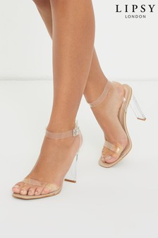 Lipsy Chic Strappy Perspex Heel