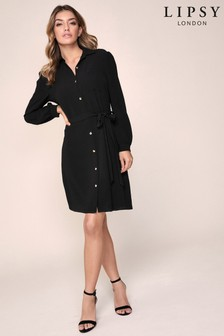 Lipsy Puff Sleeve Shirt Dress