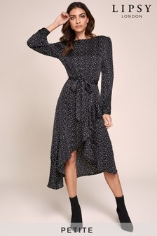 Lipsy Petite Asymmetric Wrap Dress
