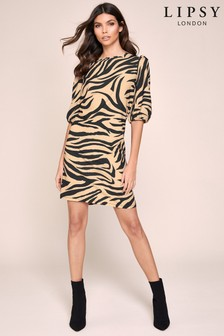 Lipsy Puff Sleeve Shift Dress