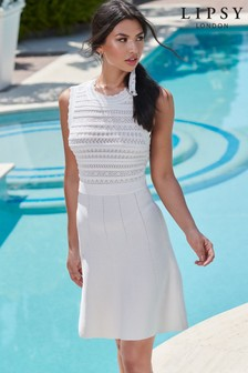 Lipsy Knitted Pointelle Dress