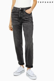 """Topshop Washed Hayden Jeans 32"""" Leg"""