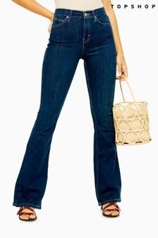 Topshop Indigo Jamie Flare Jeans