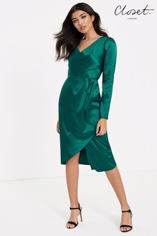 Closet Drape Skirt Wrap Dress