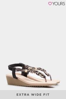 Yours Olba Trim Wedge Toe-Post Sandal