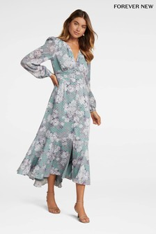 Forever New Floral High-Low Maxi Dress