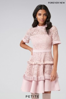 Forever New Petite Lace tiered skater dress