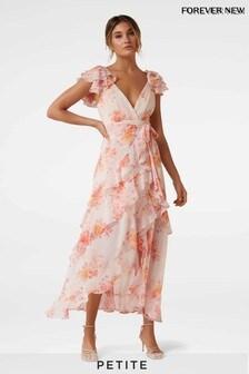 Forever New Petite Asymmetric Wrap Dress