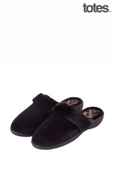 Just Sheepskin Sparkle Velour Heeled Mule