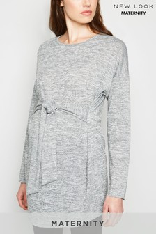 New Look Maternity Fine Knit Belted Tunic