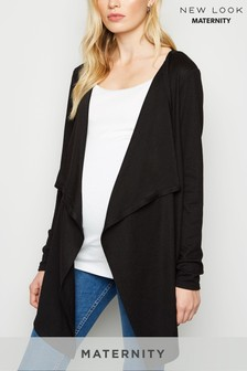 New Look Maternity Waterfall Popper Cardigan