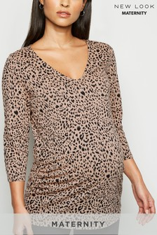 New Look Maternity Leopard Print T-Shirt