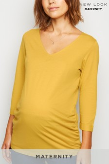 New Look Maternity 3Q Sleeve V neck T-Shirt