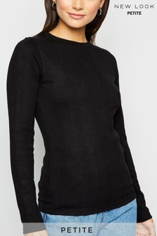 New Look Petite Ribbed Long Sleeve Top