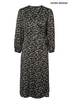 Vero Moda Floral Calf Dress
