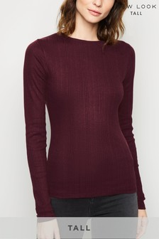 New Look Tall Ribbed Long Sleeve Top