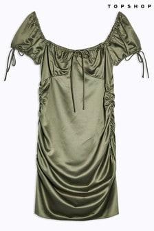 Topshop Gypsy Satin Mini Dress