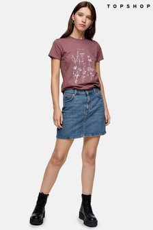 Topshop Denim Mini Skirt