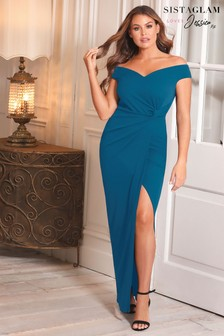 Sistaglam Loves Jessica Bardot Maxi Dress
