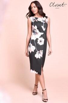 Dopasowana sukienka midi Closet