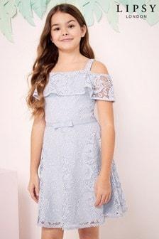 Lipsy Girl Bardot Lace Dress