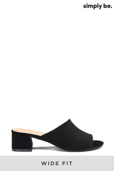 Simply Be Wide Fit CLassic Mule Sandal