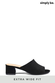 Simply Be Extra Wide Fit Classic Mule Sandal