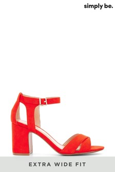 Simply Be Extra Wide Fit Mid Block Heel Sandals